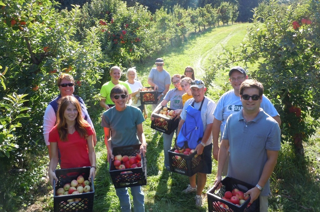 Volunteers Picking Apples