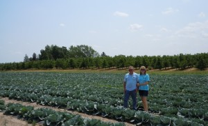 Mike and Renee Gavin of Gavin Orchards donate a variety of fruits and vegetables to the Food Bank.