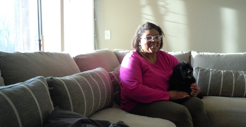 For several months in the fall of 2014, Dana Knight was homeless in Grand Rapids. She has since found her own apartment.