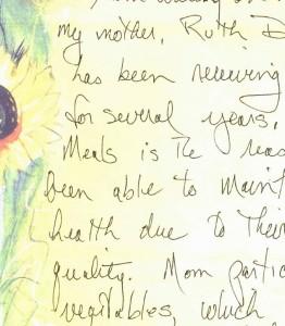 Letter from Leslie-sunflowers