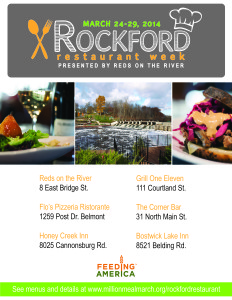 Rockford Restaurant Week brings together six restaurants for six days in support of one cause: fighting hunger in West Michigan.