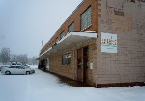 Feeding America West Michigan's branch in Ishpeming, where a blizzard in April is not unusual.