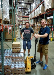 Daniel Knister and Tim Spurlin spent the summer volunteering at the Food Bank.