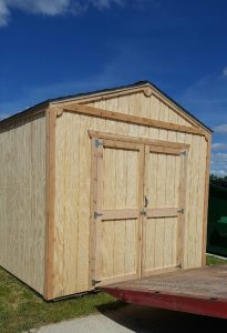 The new storage shed at our Cadillac branch will store power equipment and other tools.