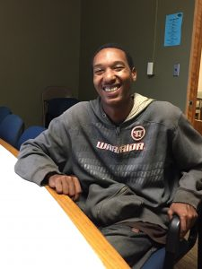 Through Steepletown, Donovan now has a placement in a job and access to food when he needs it.