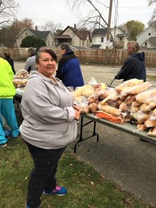 In addition to volunteering at the Mobile Pantry, Cindy is a highly involved grandparent of two Stocking Elementary students.