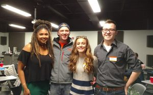 From left to right: Gabby Vernon, Shawn Wasser, Sarah Ford, and Casey Perialas.