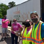 Mobile Pantry volunteers in front of truck