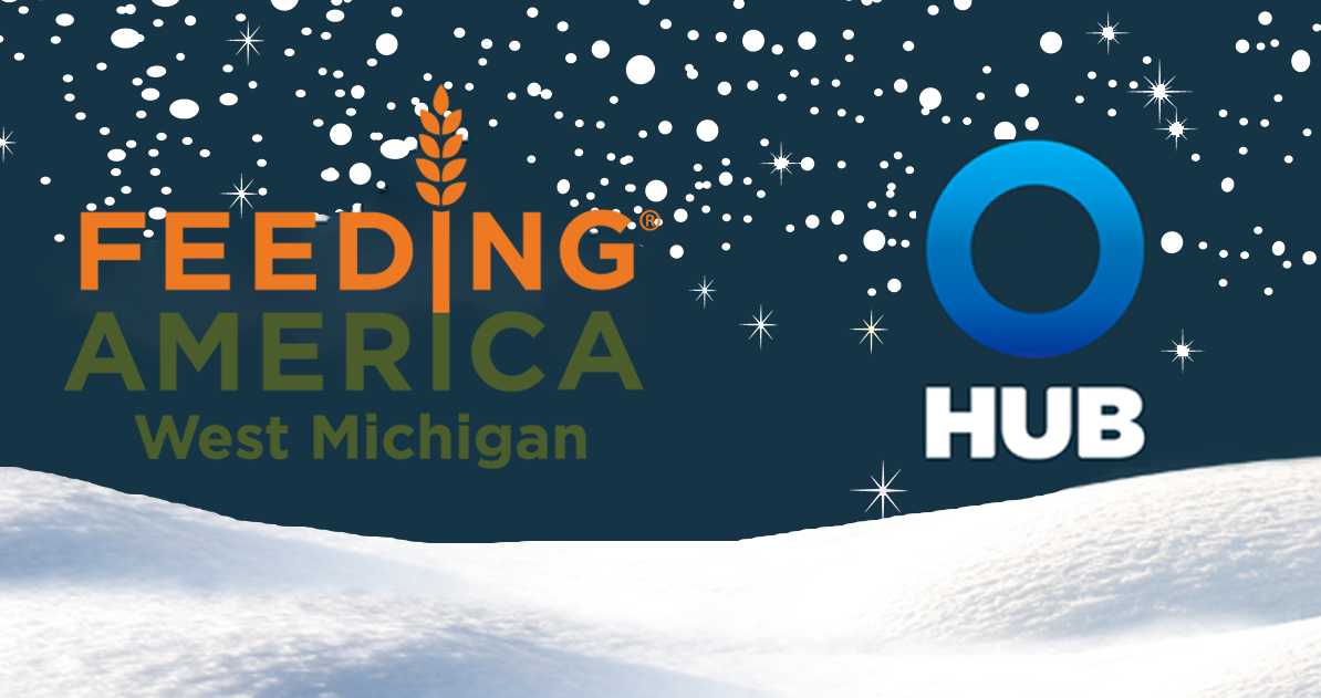 feeding america west michigan and hub logos