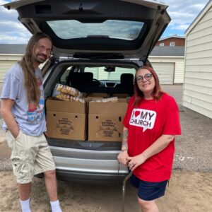 Jenny and husband Mark are regulars at their local Mobile Pantry.