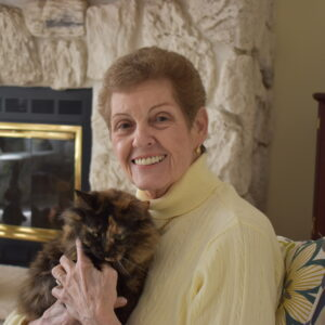karen holding a cat
