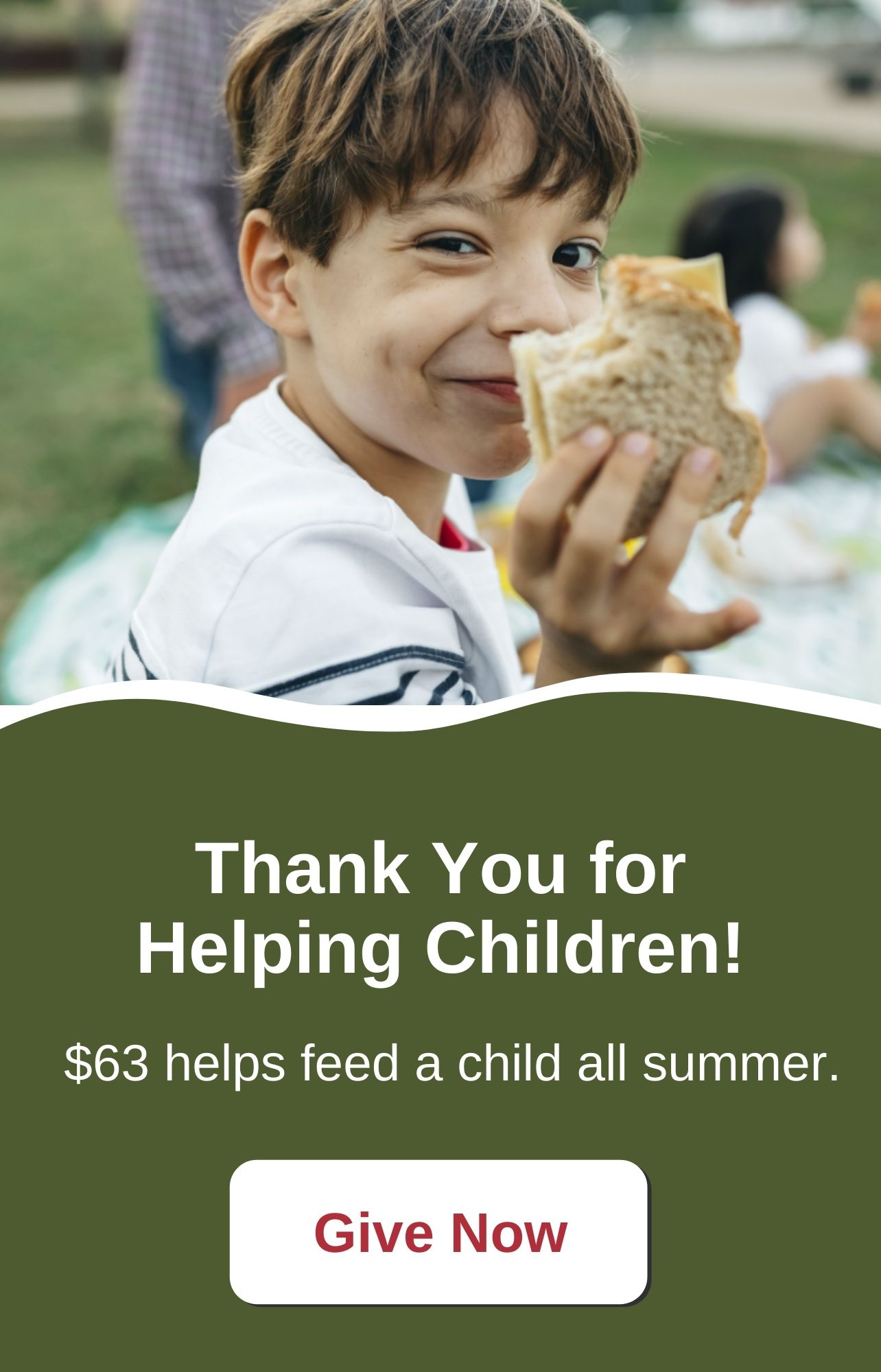 Thank You for Helping Children!