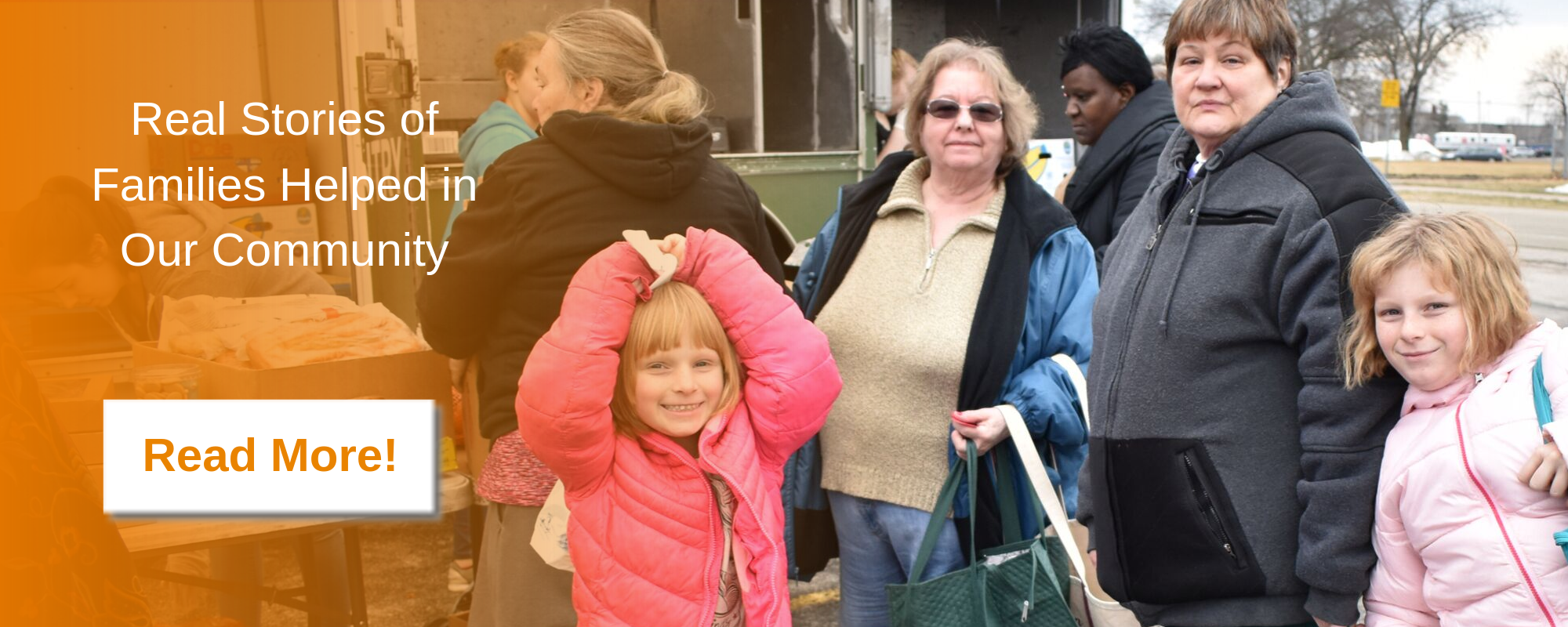 Real stories of families helped in our community. Read more.