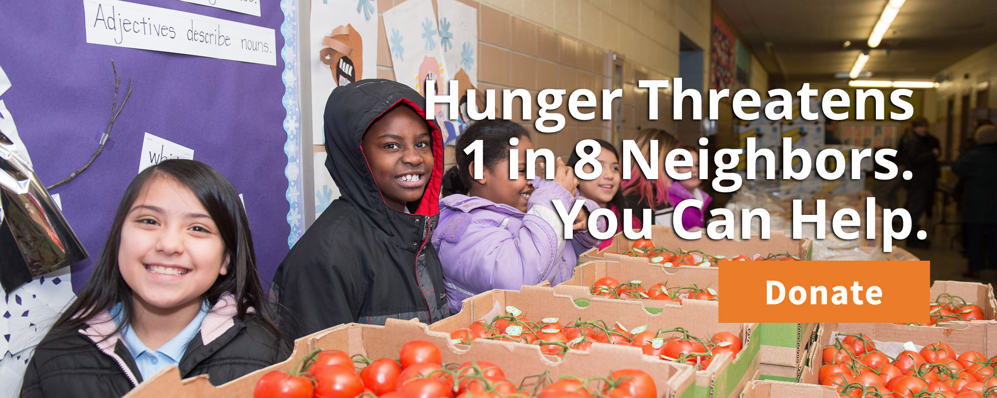 One in Eight Neighbors Struggle With Hunger - Give Today