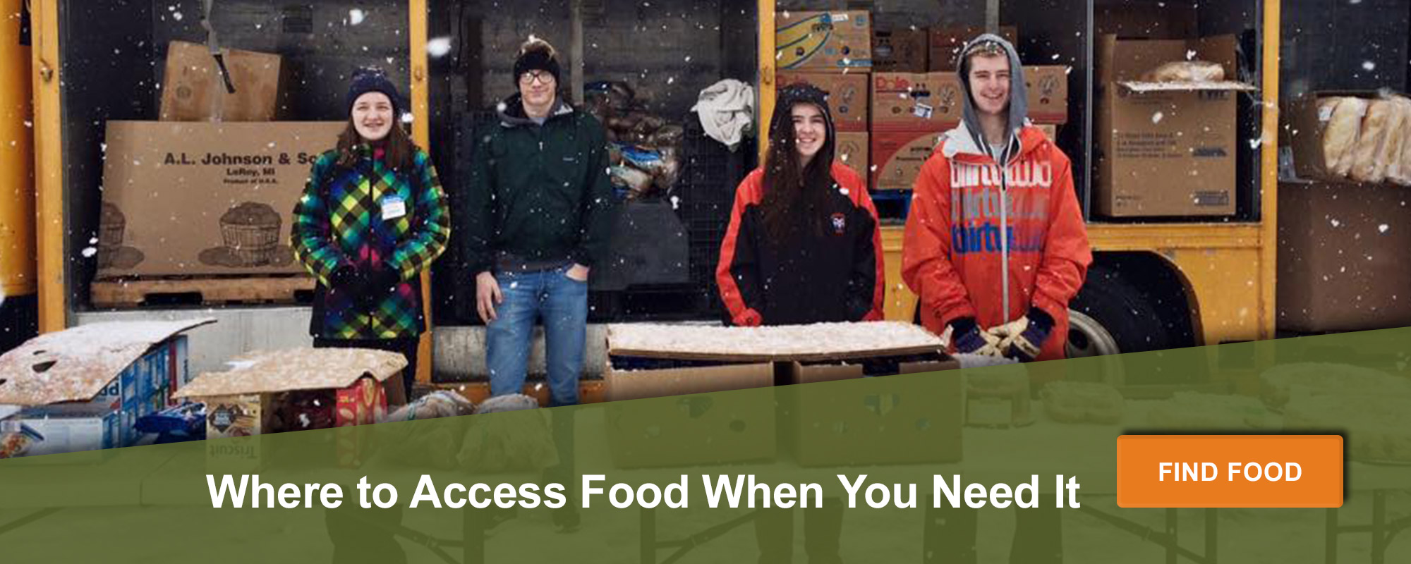Where to access food when you need it. Find food here.