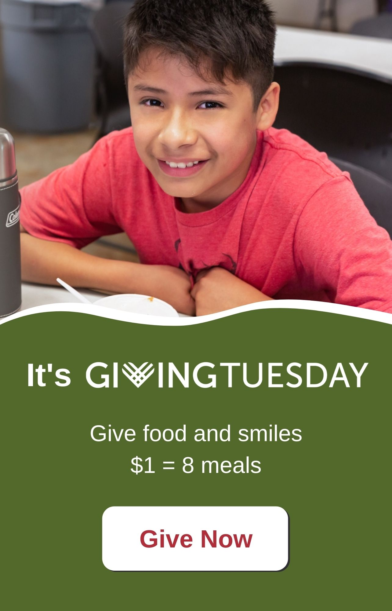 GivingTuesday $1 = 8 meals