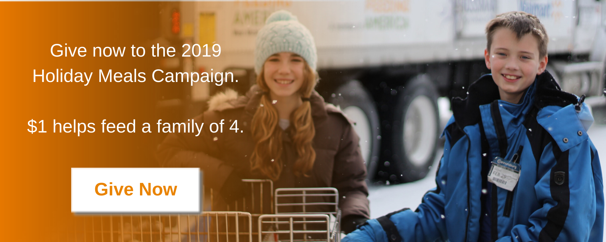 Give now to the 2019 Holiday Meals Campaign